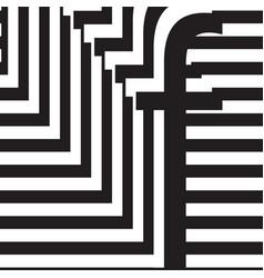 letter f design template vector image