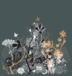 twilight in my garden vector image vector image