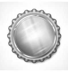 Bottle cap on white vector image vector image