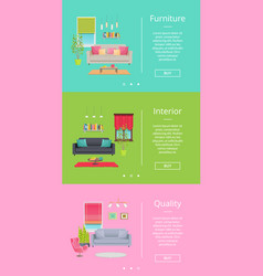 furniture and interior pages vector image