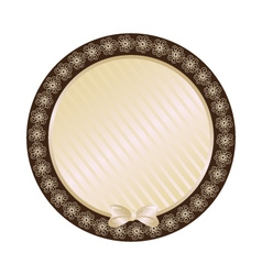 lace biege round frame vector image vector image