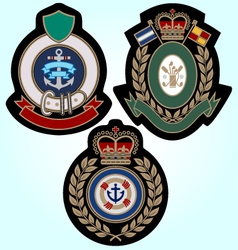 royal sport classic badge vector image vector image