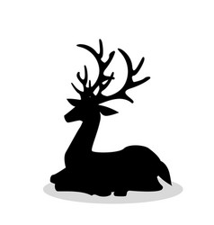 sitting deer vector image vector image