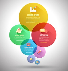 Circle group with flat icons vector image