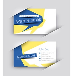Fashion Business Card Set vector image