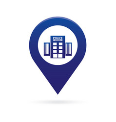 police station map pointer icon marker gps vector image