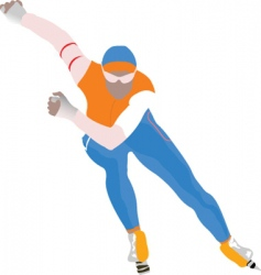 speed skating vector image
