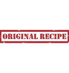 Stamp original recipe vector image vector image