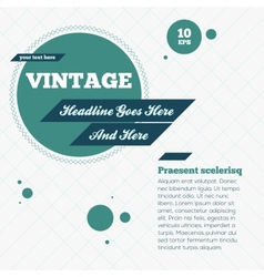 Abstract Vintage Background vector image