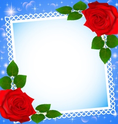 background festive frame vector image