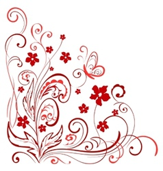 floral element for design vector image