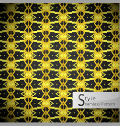 floral lattice point gold vintage geometric vector image