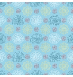 seamless pattern with colorful seashells vector image