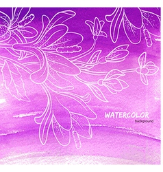 Watercolor floral vector image