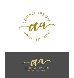 A initials monogram logo design dry brush vector