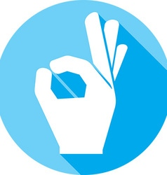 A Okay Hand Sign Icon vector