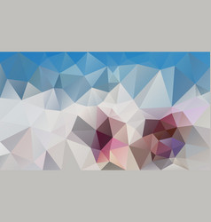 Abstract polygonal background sky blue ivory vector