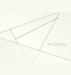 abstract white paper material geometric background vector image