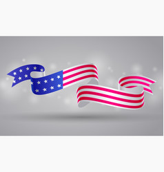 American flag ribbon banner usa symbol 4 july vector
