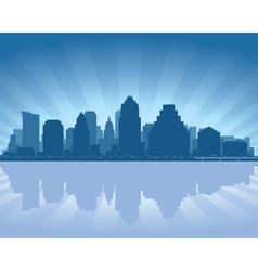 austin texas skyline vector image