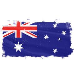 Australian flag griunge vector