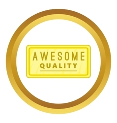 Awesome quality label icon vector image