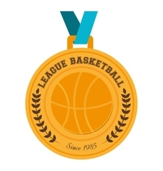 Basketball medal winner vector