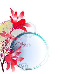 bright floral arrangement vector image