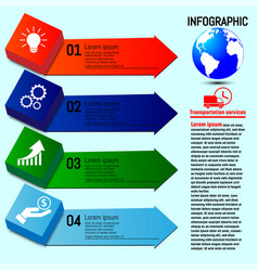 Business infographics four options steps vector