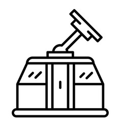 cable car icon outline style vector image
