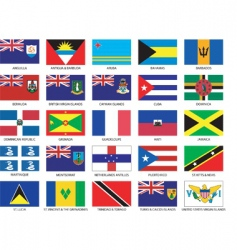 Caribbean flags vector