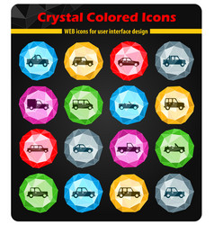 Cars simply icons vector