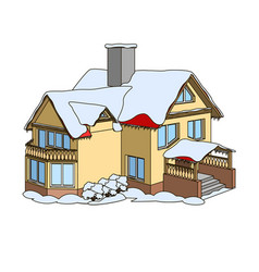 Cartoon winter house vector