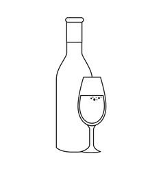 champagne bottle icon vector image