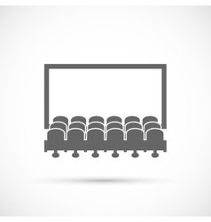 Cinema hall icon vector