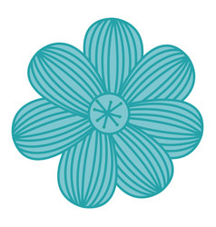 Color sketch of flower with stripes vector