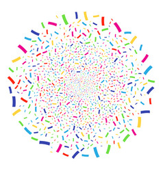 confetti festival spheric cluster vector image