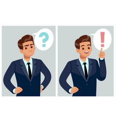 Confused man young businessman student thinking vector