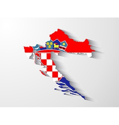 Croatia map with shadow effect vector image
