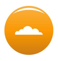 Cumulus cloud icon orange vector