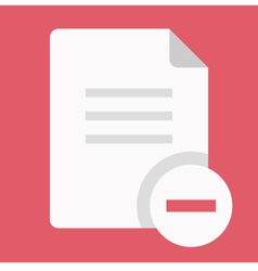 Delete Document Icon vector