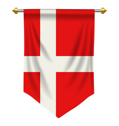 Denmark pennant vector