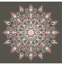 Ethnic Mandala Indian floral ornament vector image
