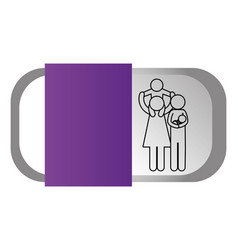 family pictogram cartoon vector image