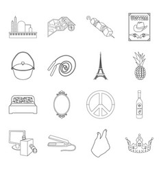 fishing sport technology and other web icon in vector image
