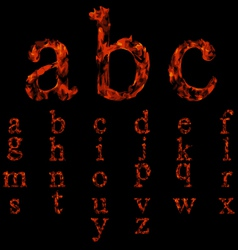 Flame fonts collection vector