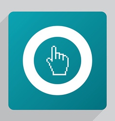 Flat pointer pixel cursor icon vector