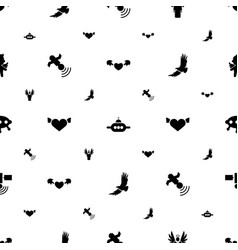 Flying icons pattern seamless white background vector