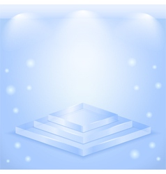 Glass stage vector image