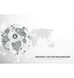 global structure networking and data connection vector image